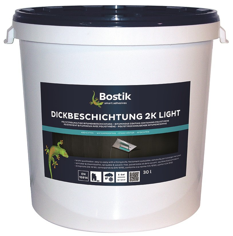 bostik bitumen dickbeschichtung 2k light 30l hobbock teil a b. Black Bedroom Furniture Sets. Home Design Ideas