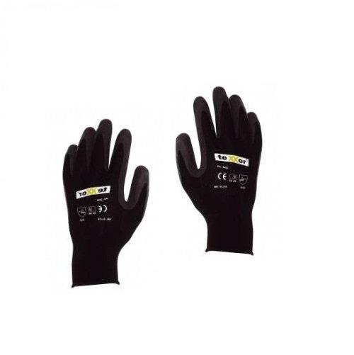 hufa fliesenleger nylon latex strick handschuhe schwarz l. Black Bedroom Furniture Sets. Home Design Ideas