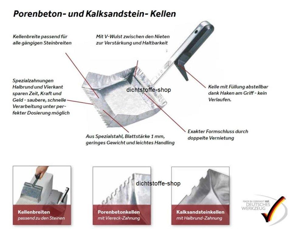 porenbeton gasbeton klebekelle 300mm viereckzahnung 5x5mm. Black Bedroom Furniture Sets. Home Design Ideas