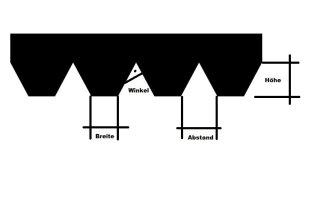 Fugodicht Leim Klebstoff Zahnspachtel Bodenleger Normalstahl B2 2.1x2.9mm gezahnt 180mm