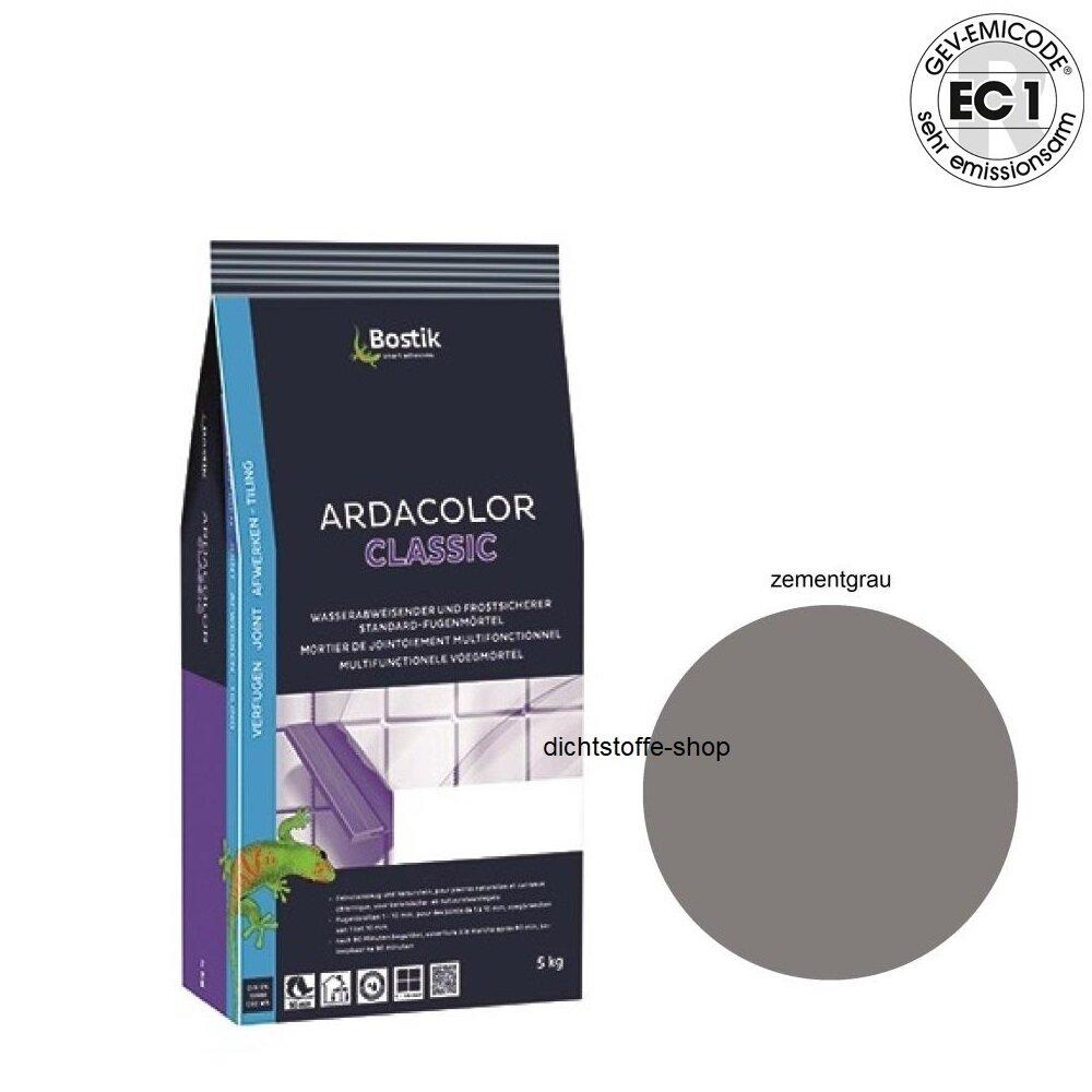 bostik ardacolor classic fuge fliesen fugenm rtel 5kg zementgrau. Black Bedroom Furniture Sets. Home Design Ideas