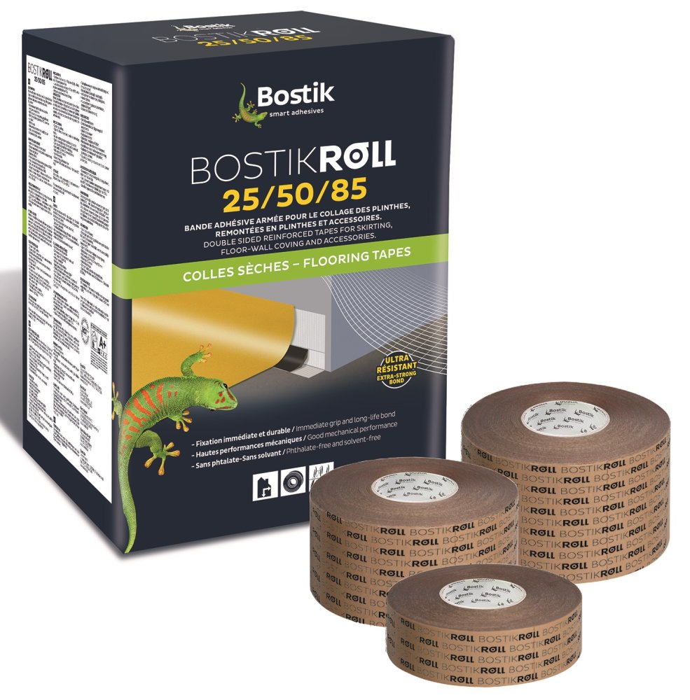 bostik roll 85 sockelleisten fu leisten klebeband 85mm x 50m rolle. Black Bedroom Furniture Sets. Home Design Ideas