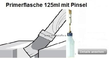 Dichtstoff-Klebstoff Primerflasche mit Pinsel